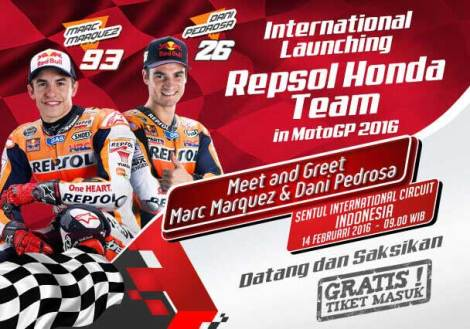 Acara Meet and Greet Marc Marquez dan Dani Pedrosa