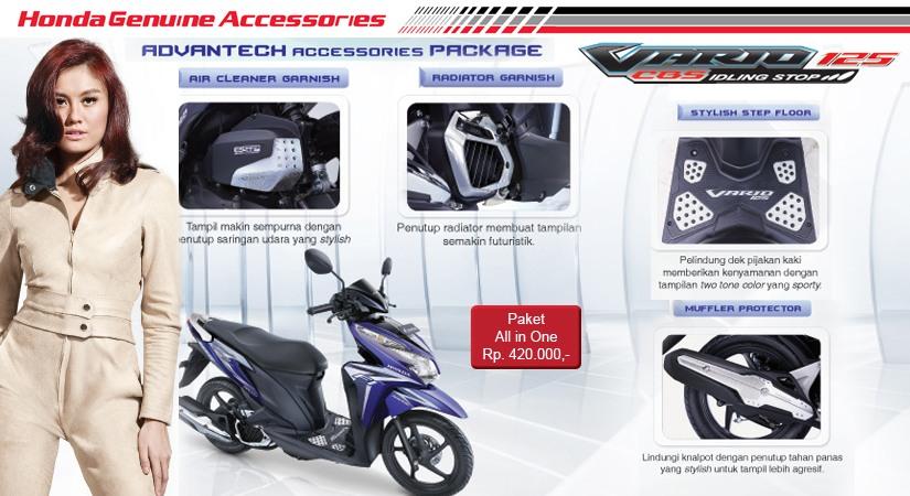 Harga Aksesoris Ori Honda Vario Techno 125