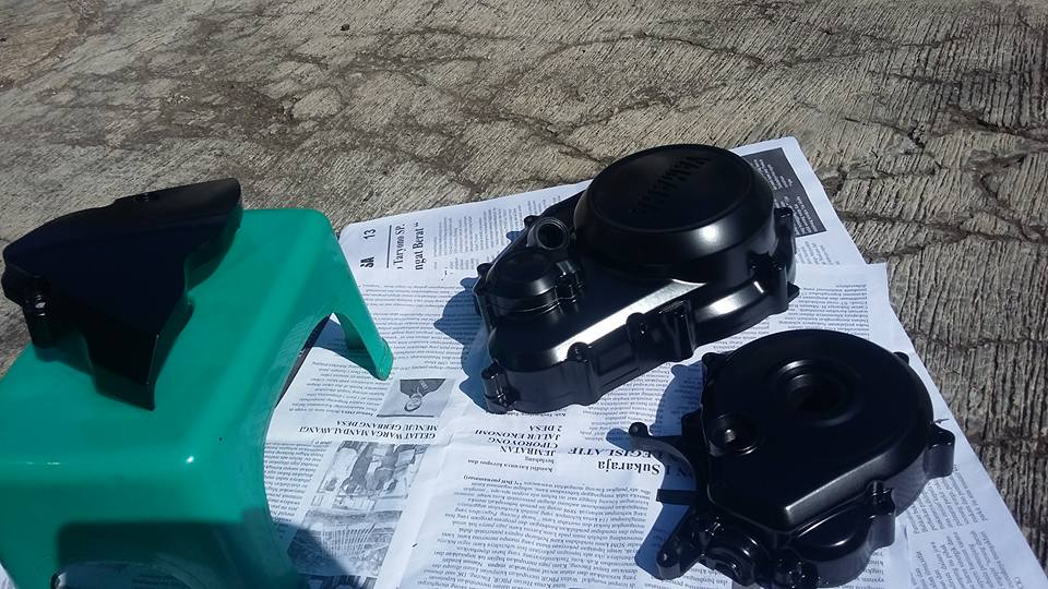 Blok mesin pakai cat samurai epoxy lapis hitam lapis clear doff