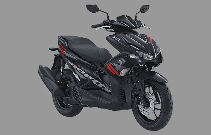 yamaha aerox 155 standar-version warna hitam