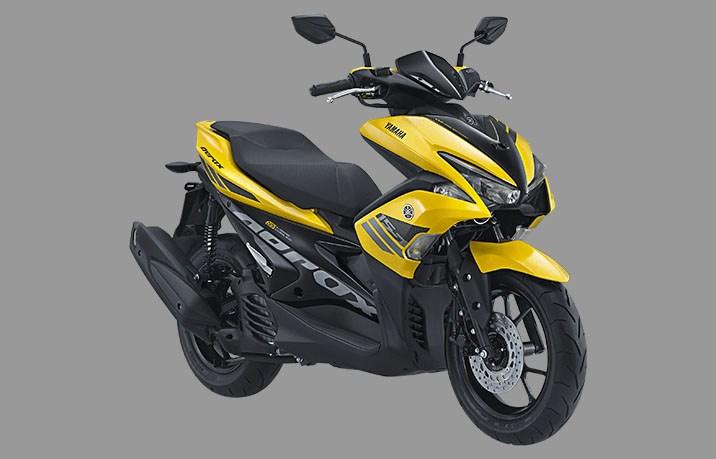 yamaha aerox 155 standar version warna kuning