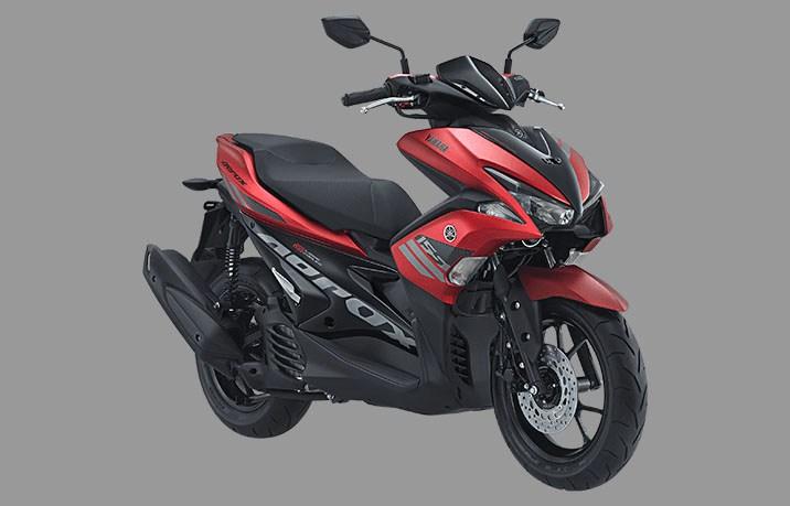yamaha aerox 155 standar version warna merah