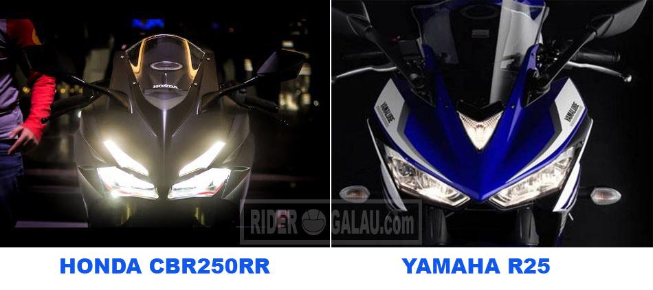 Desain Depan CBR250RR VS R25
