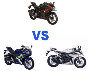 Komparasi Suzuki GSX-R150 VS Yamaha R15 dan Honda New CBR150R