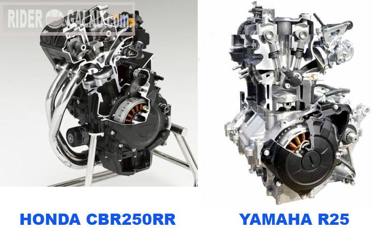 Mesin CBR250RR VS R25