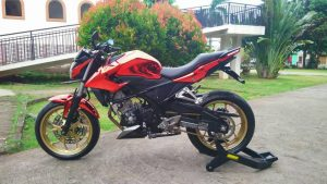 Modifikasi Honda All New CB150R Kaki tapak lebar 1