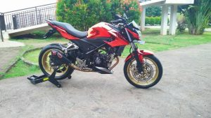 Modifikasi Honda All New CB150R Kaki tapak lebar 4