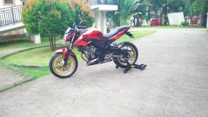 Modifikasi Honda All New CB150R Kaki tapak lebar 5