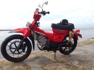 Modifikasi Honda Sonic 150R Ala Motor Klasik Honda C70