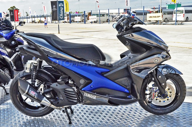 Modifikasi Yamaha Aerox 155 VVA Sporty From Thailand 1