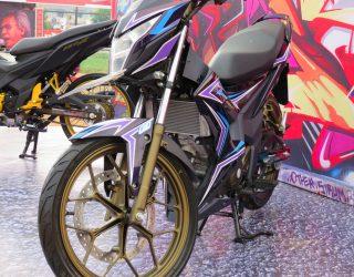 modifikasi Sonic 150R di ajang Honda Speed Heroes Show