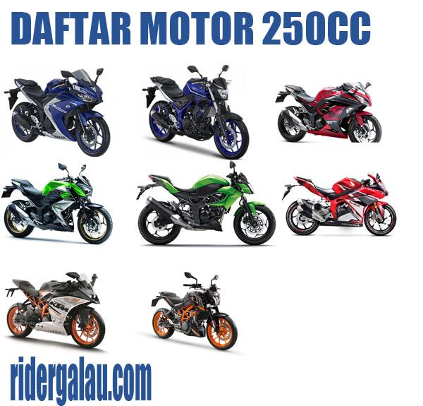 Daftar Motor 250cc