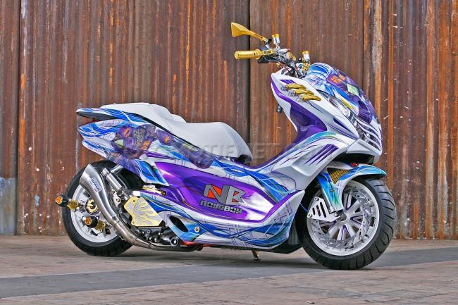 Honda PCX 150 Juara Nasional Honda Modif Contest 2016