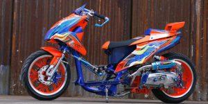 Modifikasi Honda BeAT Ekstrem Drag Ban lebar 2