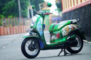 Modifikasi Honda Scoopy Peri Hijau 2