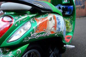 Modifikasi Honda Scoopy Peri Hijau 4