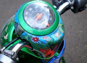 Modifikasi Honda Scoopy Peri Hijau 6