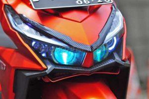 Modifikasi Honda Vario 150 ESP Matte Orange Bergaya 3