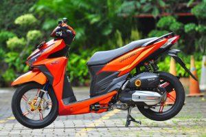 Modifikasi Honda Vario 150 ESP Matte Orange Bergaya 6