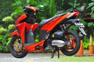 Modifikasi Honda Vario 150 ESP Matte Orange Bergaya 7