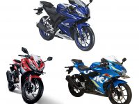 Perbandingan All New Yamaha R15, All New Honda CBR150R dan Suzuki GSX-R150