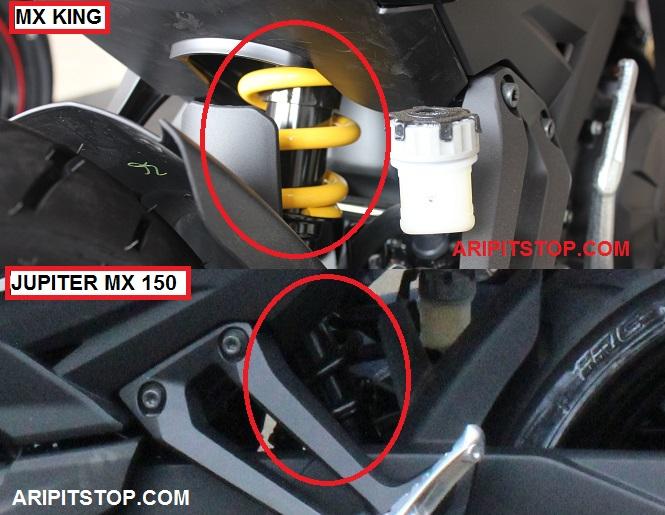 Perbedaan Yamaha Jupiter MX 150 dan X King 150 10