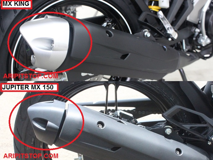 Perbedaan Yamaha Jupiter MX 150 dan X King 150 4