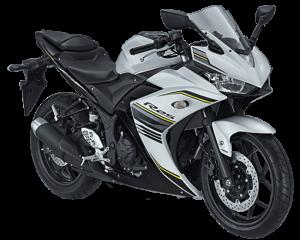 Yamaha R25 Warna Putih Tahun 2017