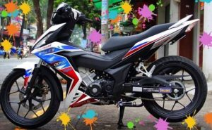 Modifikasi Supra GTR 150 Striping RWB Red White Blue