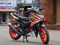 Modifikasi Supra GTR 150 Striping Repsol