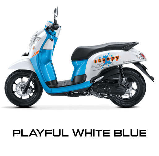 Pilhan Warna All New Honda Scoopy Playful White Blue