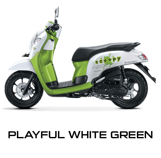 Pilhan Warna All New Honda Scoopy Playful White Green