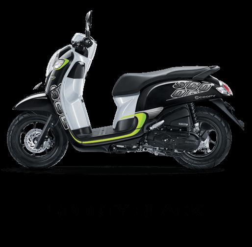 Pilhan Warna All New Honda Scoopy Sporty Black