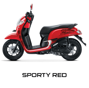 Pilhan Warna All New Honda Scoopy Sporty Red