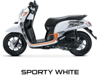 Pilhan Warna All New Honda Scoopy Sporty White