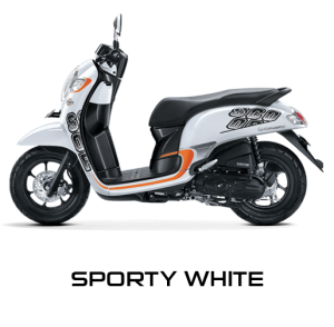 Pilhan Warna All New Honda Scoopy Sporty White