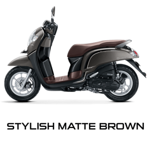 Pilhan Warna All New Honda Scoopy Stylish Matte Brown