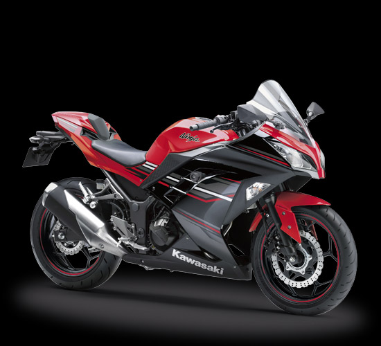 Striping Kawasaki Ninja 250 FI SE ABS LTD Merah 2017