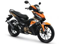 Pilihan warna dan Striping Honda Supra GTR 150 2017 Nitric Orange