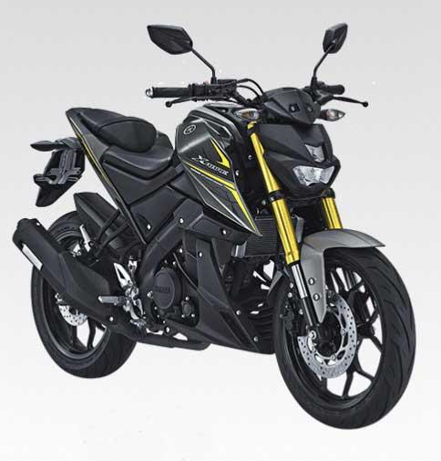 Warna dan Striping Yamaha Xabre Tahun 2017 Hitam Dof