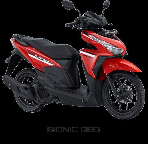 warna dan striping Honda Vario 125 ESP 2017 Bionic red