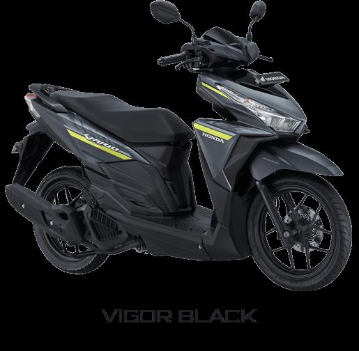 warna dan striping Honda Vario 125 ESP 2017 Vigor Black