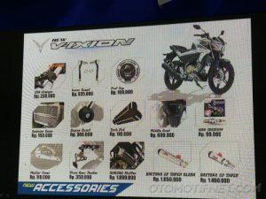 13 Daftar Harga Aksesoris Yamaha All New Vixion Terbaru