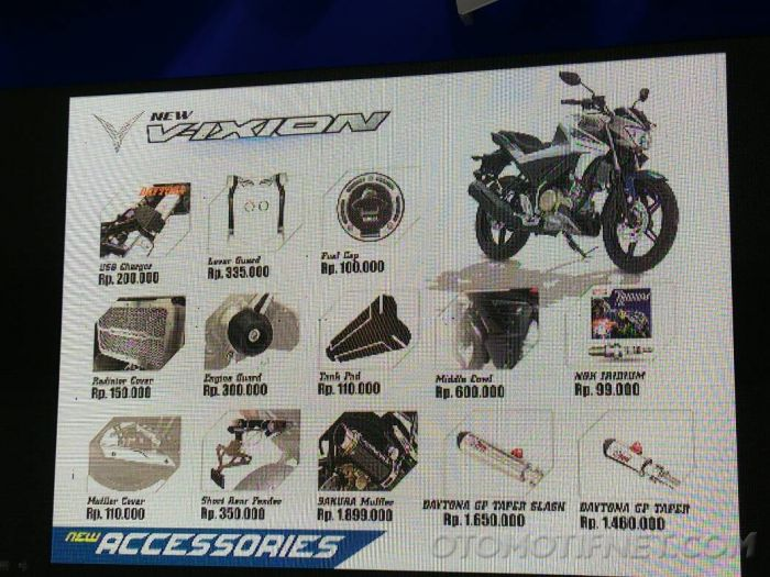 Aksesoris Yamaha All New Vixion