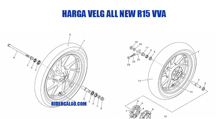 Harga Velg Yamaha All New R15