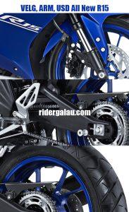 Harga Velg Depan-Belakang, Arm, dan USD Yamaha All New R15 VVA