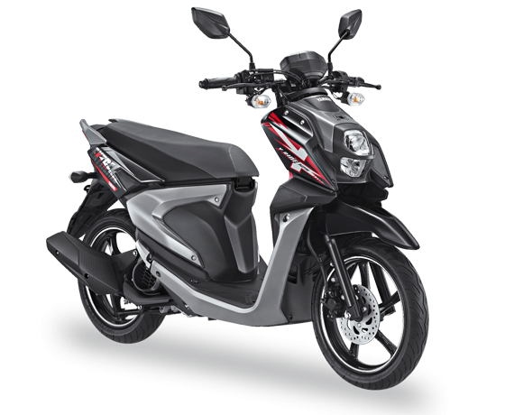 All New X Ride 125 Hitam Tough Black 2017