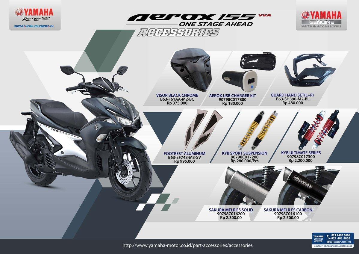 Harga Aksesoris Ori Yamaha Aerox 155