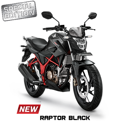 Striping dan warna Honda all new CB150R Tahun 2017 Raptor Black