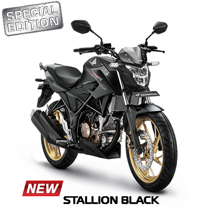 Striping dan warna Honda all new CB150R Tahun 2017 Stallion Black